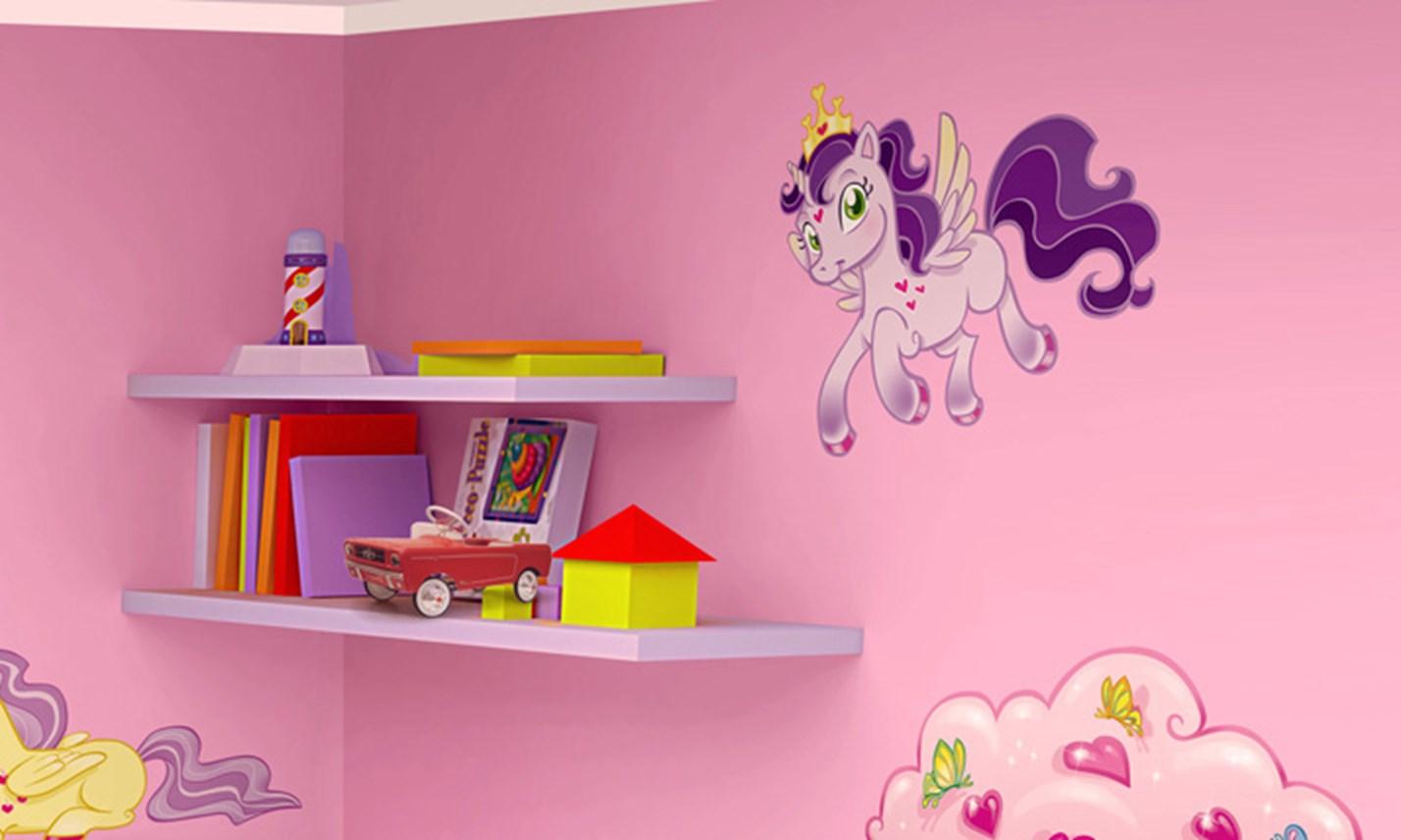 Stickers murali bambini cameretta i mini unicorni - Decorazioni murali per camerette bambini ...